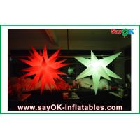 Wholesale 190T oxford cloth Party Giant Inflatable Decoration Star Led Lighting white from china suppliers