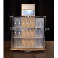Wholesale Acrylic Wooden Display Racks 2 - Sided Revolving Countertop Watch Display Showcase from china suppliers