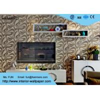 Wholesale Champagne Foam Modern Removable Wallpaper With Geometric Pattern from china suppliers