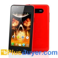 Wholesale Flame - 4 Inch Android Phone (1GHz Broadcom CPU, 800x480, 4GB Memory, Red) from china suppliers
