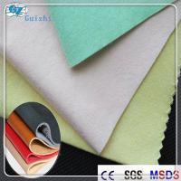 Wholesale Cross Lapping Faux / Imitation / Synthetic Leather Fabric 80GSM - 300GSM from china suppliers