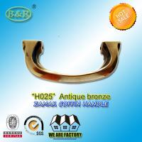 Wholesale H025 Antique Brass Zamak Metal Coffin Handles With 14cm Screw Distance from china suppliers
