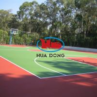 China Outdoor rubber basketball flooring on sale