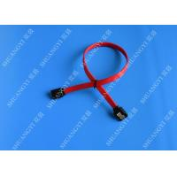 Wholesale 26 AWG SATA III 6.0 Gbps Female to Female SATA Data Cable , Red HDD SATA Cable 7 Pin from china suppliers