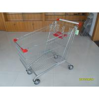 Wholesale 240L Supermarket Shopping Carts With Zinc Plated And Colorful Coating from china suppliers