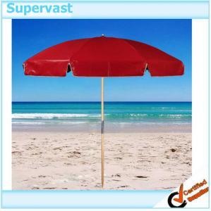 Wholesale Custom UV Fade Resistance Seaside Wood Patio Umbrella / Waterproof Beach Sun Shelter from china suppliers