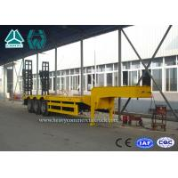 Quality High Performance Steel Low Bed Trailer 3 Axle With Hydraulic Ladder for sale