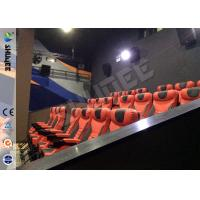 Luxury Spacecraft 4D theater System , 4D Movie Equipment With Pvc And Real Leather 4Dof Motiom Chairs