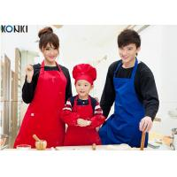 Wholesale Professional Red Color Custom Kitchen Aprons Cotton Durable Logo Printed from china suppliers