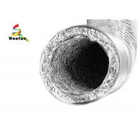 Buy cheap HVAC , bath and general ventilating applications round aluminum foils flexible duct from wholesalers
