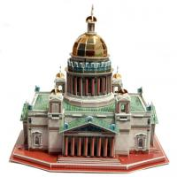 Wholesale 3D Paper Puzzle Saint Isaac's Cathedral in Saint-Petesrburg Size 32x27x30 cm from china suppliers