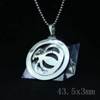 Wholesale Fashion High Quality Fashion Stainless Steel Round Shapped Necklace Pendant LPR44 from china suppliers