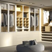 Wholesale Beige Lacquer Finish Walk In Closet Organizers With Eco Friendly Functional Hardware from china suppliers