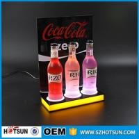 Wholesale high quality acrylic table top led lighting liquor bottle display from china suppliers
