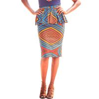 Wholesale Summer Dashiki Batik African Print Skirts High Waist Pencil Knee Length Pure Cotton from china suppliers