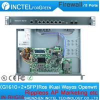 Wholesale Internet router ROS 8 Gigabit flow control juniper firewall with G1610 CPU Intel 1000M 6 82583V 2 Gigabit 82580DB fiber from china suppliers