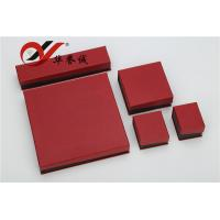 Wholesale Red Special Paper Jewelry Boxes Set Customized Logo For Jewelry Storage from china suppliers
