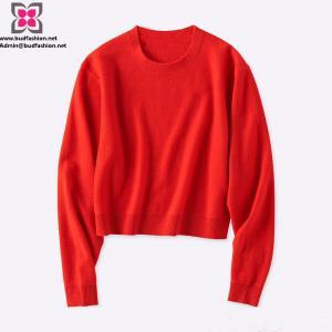 China Wholesale Custom Women Wool Long Sleeve Soft Sweater/Knitwear on sale