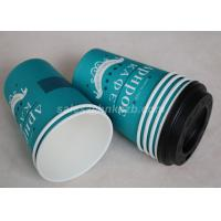 Wholesale 10oz Cold Drink Paper Cups With Plastic Lids For Cold Coffee / Tea / Coca Cola from china suppliers