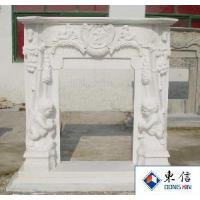 Buy cheap White Marble Stone Fireplace from wholesalers