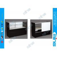 Wholesale Half Vision Modern Commercial Display Cabinets for Retail Shops , Black from china suppliers