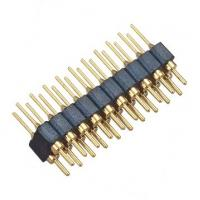 Quality Brass 2.54 Mm Round Pin Header  Straight PPS H=3.0 Mm L=10.0 black ROHS for sale