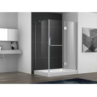 Wholesale Hinge open shower door with stainless steel 304 hinge and towel bar handle,3/8 inches clear tempered glass from china suppliers