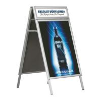 Wholesale Hotel Aluminum Double Side Free Standing Poster Display Stands from china suppliers