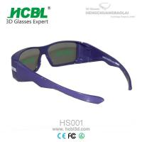 Wholesale Purple PC Frame TAC Lens IMAX 3D Glasses Circular Polarized For Ultimate Movie from china suppliers