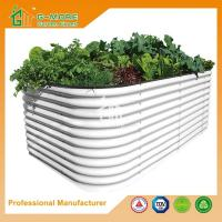 Wholesale 90X90X45cm Ivory Color Easy Assembly Galvanized Steel Raise Garden Bed from china suppliers