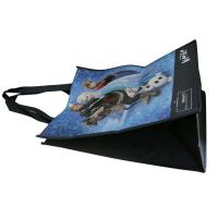 Quality Darkblue 100% enviromental non woven fabric reusable carrier bags water proof for sale