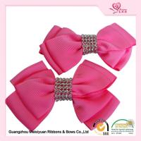 Wholesale Hand Made little Girls Hair Bows Pretty Pink Grosgrain Ribbon material from china suppliers