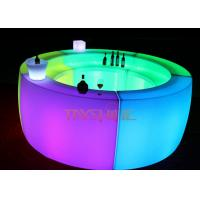 Wholesale Fireproof Glowing LED Bar Counter Furniture , Acrylic LED Lounge Furniture from china suppliers