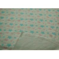 Wholesale Lovely Star Pattern Printed Soft Minky Fabric Shrink - Resistant from china suppliers