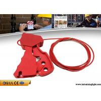Wholesale 211g Adjustable Cable Lockout Stainless Steel 2.4 Meters Red Grip Type from china suppliers