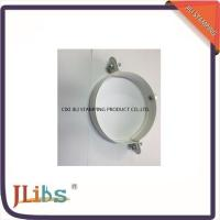 Quality Galvanized Metal Supporting Round Clamp Down Pipe Clamps Riveted Fixed Screw for sale
