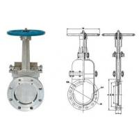 "Quality SS316 8"" Cast Steel Gate Valve for paper pulp , sewage DN50 ~ DN 2000 for sale"