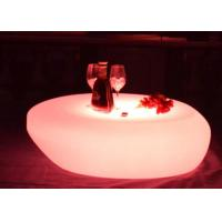 Wholesale PE Rechargeable Led Light Up Round Led Cocktail Table With Pink Green Yellow Color from china suppliers