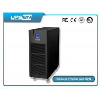 Quality 0.8 Power Factor Tower Type High Frequency Online Ups 6k-10k With LED / LCD Display Selectable for sale