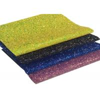 Buy cheap Chunky Glitter Leather, Synthetic Leather, Glitter PU Leather For DIY Accessorie from wholesalers
