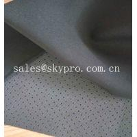 4mm Black Skid Proof Breathable Perforated Nylon Fabric Single Side Polyester Knitted