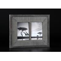 Wholesale 2 - Openings 5x7 Wooden Matted Wall Hanging Photo Frames In Antique Dark Gray Finishing from china suppliers