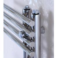 Wholesale 300mm Wide Wall Mounted Heated Towel Radiator , Brushed Stainless Steel Towel Rail from china suppliers
