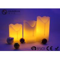 Wholesale Beautiful Flameless Electric Candles , Electric Pillar Candles Cylinder Shape from china suppliers
