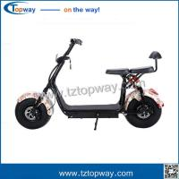 Quality 18x9.5 inch fat tyre with Brushless dc motor 1000w electric citycoco scooter for sale