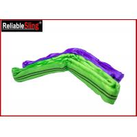 Buy cheap Purple Round Polyester Lifting Slings 0.5m - 100m Wear Resistant Polyester Web Sling from wholesalers