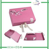Quality Flat Folding Magnetic Gift Boxes Texture Paper Decorative Gift Box With Ribbon for sale