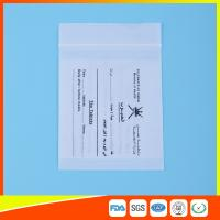 Dust Proof Transparent Zip Lock Bag For Pill Packaging , Disposable Pill Pouches for sale