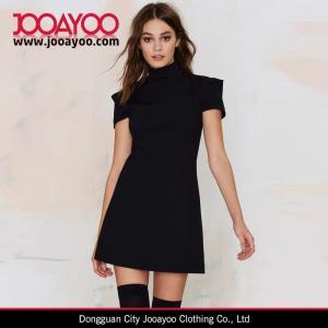 Wholesale Women Latest short Sleeve Little Black Mini Dress Design from china suppliers