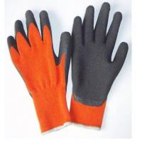 Wholesale Wrinkle Finish Knitted Seamless Fluorescent Nylon Liner Warm Winter Gloves from china suppliers